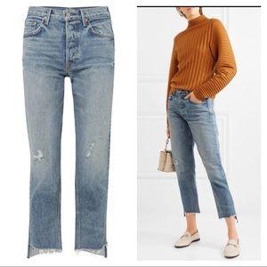 NEW GRLFRND Helena cropped Atlantic jeans